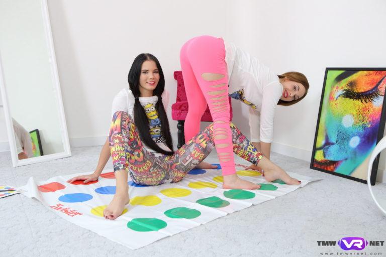 Hotties play strip twister VR Porn