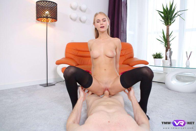 Stockinged Cock Rider VR Porn
